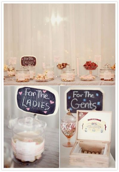 Wedding Favors - Desserts for ladies, golf & cigars for