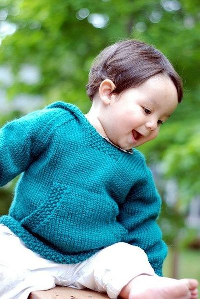 the wonderful wallaby baby sweater / knits and kits ...