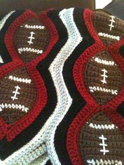 Crochet Pattern For Football Blanket : Bizzy Crochet: Football Afghan-would make great scarves ...