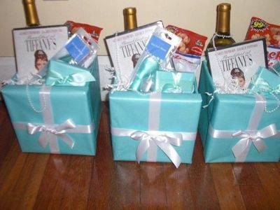 breakfast at tiffanys bridal shower theme gifts