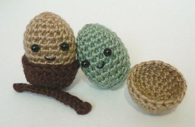 Bulbasaur Amigurumi Pattern Free : Amigurumi Acorn Easy Pattern for beginners / crochet ideas ...