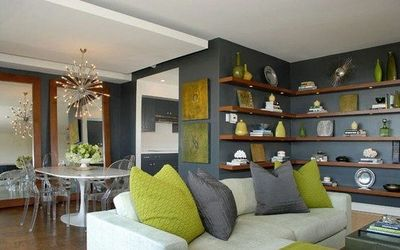 Chartreuse And Grey Could Use This Scheme For My Living Room As Well
