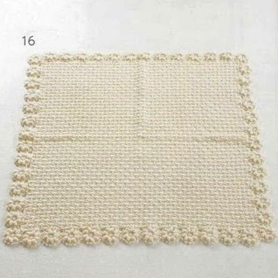 Crochet Patterns For Baby Blanket Edges : Baby Blanket with Flower Edge free crochet pattern / baby ...