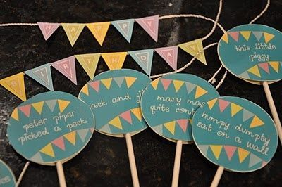 Nursery Rhyme Themed Birthday Party But Could Work For Baby Shower Too