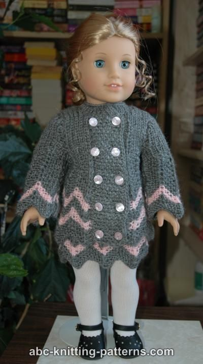 Abc Knitting Patterns For American Doll : ABC Knitting Patterns - American Girl Doll Chevron Jacket / crochet ideas and...