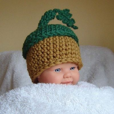 Free Crochet Baby Acorn Hat Pattern : ACORN HAT PATTERN FREE Knitting PATTERNS