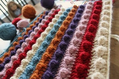 Crochet Stitches Popcorn : Crochet Popcorn Stitch Blanket Pattern / crochet ideas and tips ...