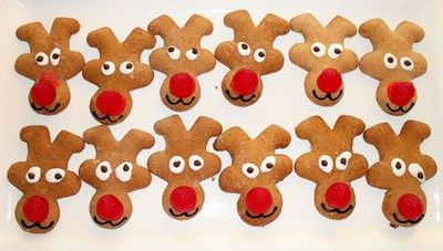Adorable Reindeer Cookies Upside Down Gingerbread Man Fun