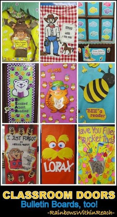 Classroom Door Decoration Ideas + Bulletin Board Ideas as we ...