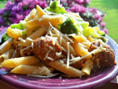 Italian sausage with penne
