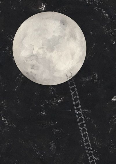 Take me there... Illustrator Amy Borrell brings the moon home.