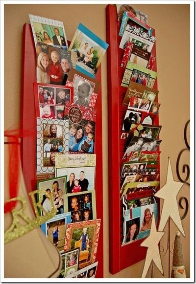 Christmas card display using old shutters / christmas xmas ideas - Juxtapost