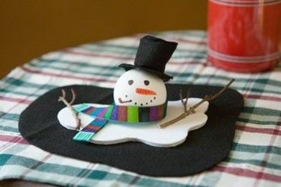 Melting snowman craft using foam sheets christmas xmas for Craft ideas using foam sheets