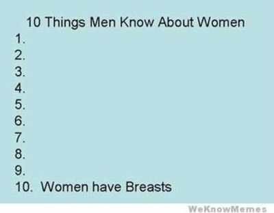 10 things men know about women