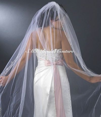 Beaded Cathedral Length Wedding Veil By SMKCoutureBridal On Wedding Ideas