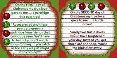 12 days of christmas gifts from secret santa