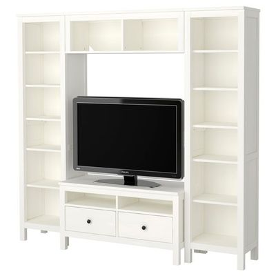 hemnes tv storage combination ikea for the home. Black Bedroom Furniture Sets. Home Design Ideas