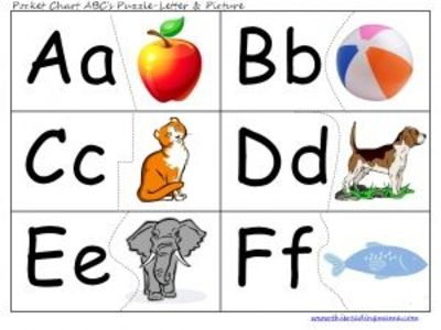image about Abc Printable Chart known as Cost-free printable ABC Pocket Chart Playing cards and/or puzzles