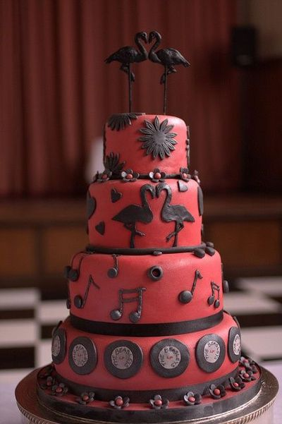 Pin Rockabilly Cake Wedding Cakes Juxtapost Cake On Pinterest