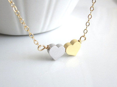 Sweet Double Heart Necklace