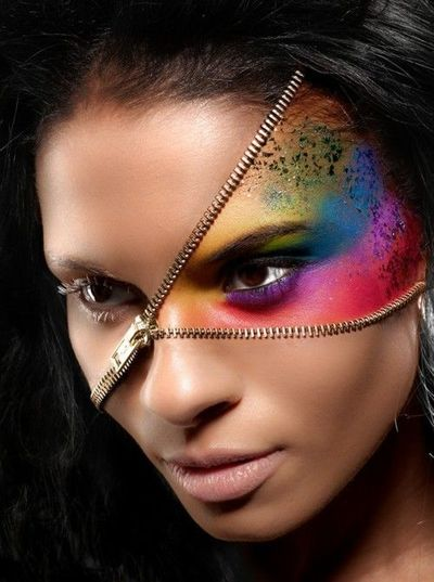 What the what? Halloween makeup... TOO COOL / make up tips - Juxtapost