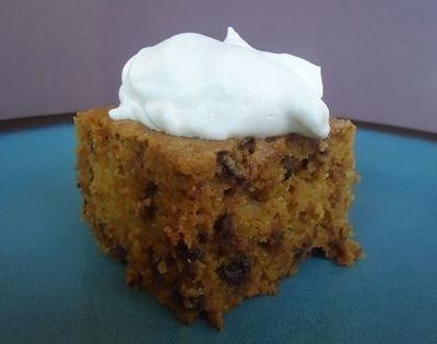 Whole Wheat Pumpkin Chocolate Chip Cake