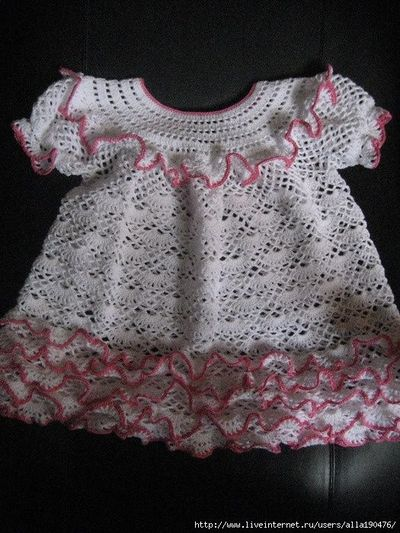 Dress and Hat free crochet graph pattern / baby time ...