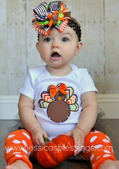Thanksgiving Onesie And Leg Warmers Love It All Except