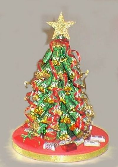 Candy bar christmas tree craft easy fun centerpiece and