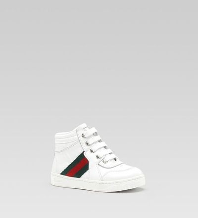 Gucci - high-top lace-up sneaker / baby