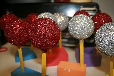 Homemade Christmas Ornaments. Styrofoam balls, Glue, Glitter ...