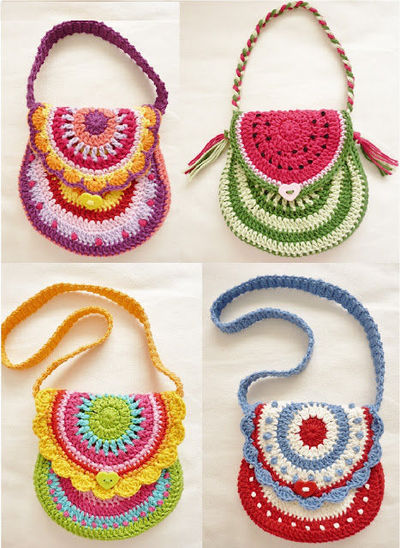 Crochet purses for girls. / Crochet - Juxtapost