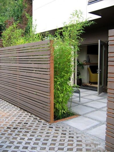 privacy fence idea garden diy juxtapost