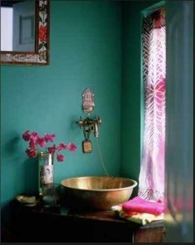 Teal fuschia bathroom home interior bath ideas juxtapost