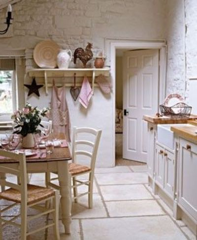 Romantic country kitchen love for my kitchen juxtapost - Cocina shabby chic ...