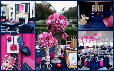 Navy blue and pink / wedding ideas - Juxtapost