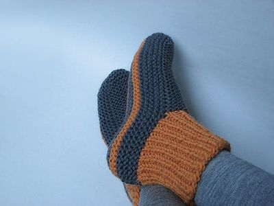 KNIT SLIPPERS ONE SIZE PATTERN 1000 Free Patterns