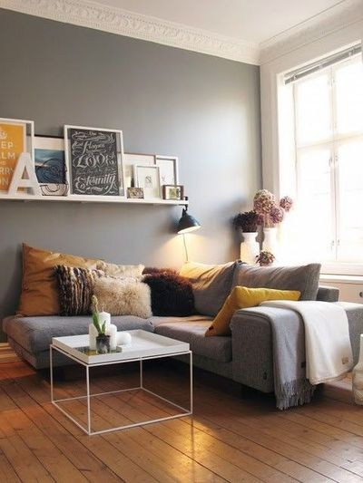 gray living room, gray couch / For the home - Juxtapost