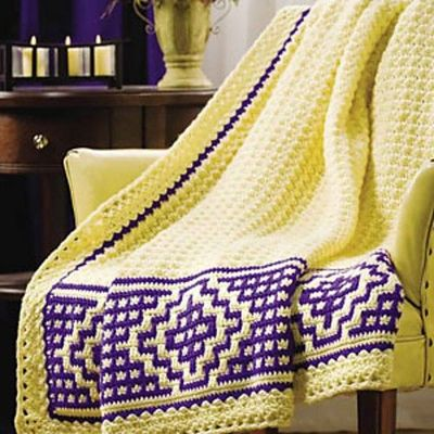 Mosaic Crochet Afghan Pattern : Ravelry: Mosaic Border Afghan pattern by Margret Willson ...