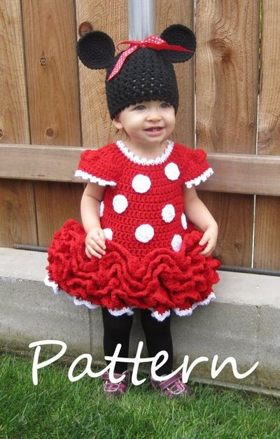 Crochet Minnie Mouse Baby Outfit Pattern Joy Studio ...