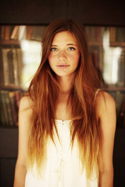 ombre ginger hair. love this. and she's pretty. jealous. lol.