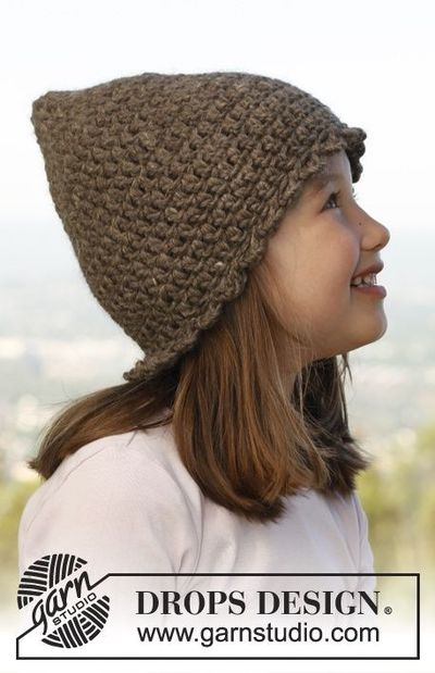 "Free pattern: Crochet DROPS hat in ""Nepal""."