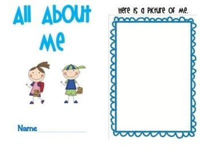 photograph about All About Me Book Preschool Printable referred to as Retain the services of this lovable and printable e book for an All Over Me Gadget, o
