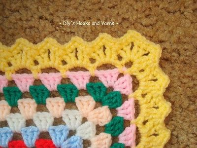 Granny Square Baby Blanket With Cool Border Free Pattern Crochet