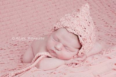 Organic cotton pixie hat