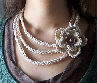 Crocheted Necklace Free Pattern From Creativeyarn Crochet