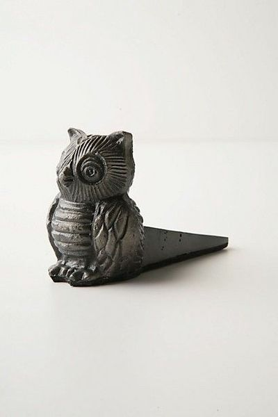 Owl Doorstop - Anthropologie.com $24