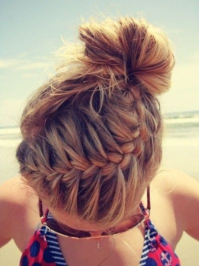 I wish my hair was long enough to do this.