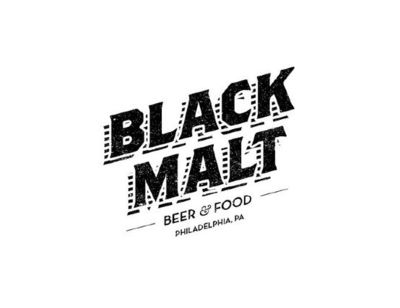 Black Malt logo by Mike Smith #logo #logos #design #branding #graphic #Pinterest