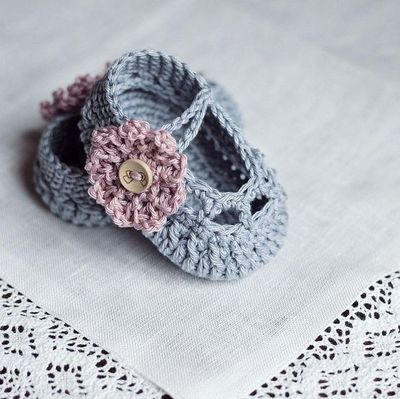 Old Rose Baby Booties, crochet pattern, tutorial / crochet ...